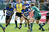 Max Green of Bath Rugby in possession. Aviva Premiership match, between Bath Rugby and London Irish on May 5, 2018 at the Recreation Ground in Bath, England. Photo by: Patrick Khachfe / Onside Images