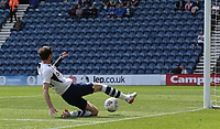 Preston North End's Tom Barkhuizen fails with chance of an open goal<br /> <br /> Photographer Stephen White/CameraSport<br /> <br /> Football Pre-Season Friendly - Preston North End v Southampton - Saturday July 20th 2019 - Deepdale Stadium - Preston<br /> <br /> World Copyright © 2019 CameraSport. All rights reserved. 43 Linden Ave. Countesthorpe. Leicester. England. LE8 5PG - Tel: +44 (0) 116 277 4147 - admin@camerasport.com - www.camerasport.com