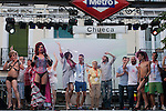 Inauguration of the gay pride festivities held MADO2012 in the Madrid district of Chueca.The singer La Terremoto de Alcorcon (l) and the actor Fernando Tejero read the inauguration speech at the assembled audience  with several members of the gay and lesbian Spain..(Alterphotos/Ricky)