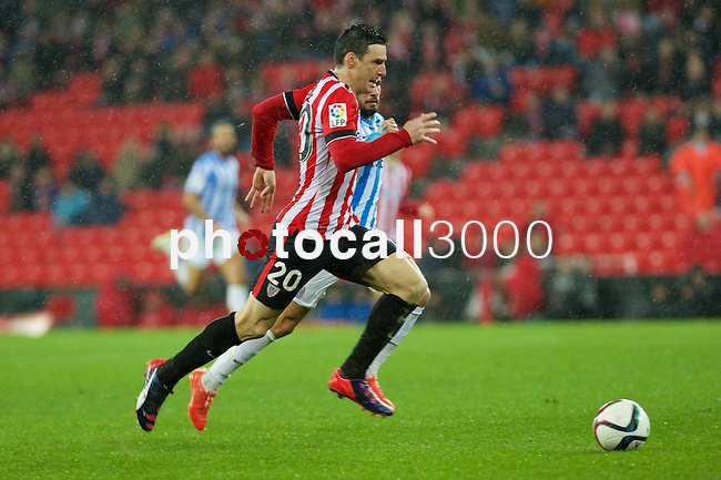 Football match during La Copa del rey, between the teams Athletic Club and Malaga CF<br /> Bilbao, 30-01-14<br /> aduriz<br /> Rafa Marrodán&Alex Zugaza/PHOTOCALL3000
