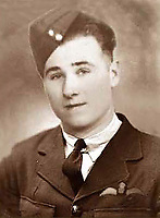 BNPS.co.uk (01202 558833)<br /> Lochem/BNPS<br /> <br /> PICTURED: Flight Sergeant William Hurrell<br /> <br /> <br />  The remains of a 'lost' British airman have been discovered 75 years after his plane crashed in Holland.<br /> <br /> Flight Sergeant William Hurrell was killed when his RAF Typhoon was hit by an enemy plane as he flew to the aid of besieged paratroopers at Arnhem in 1944.<br /> <br /> The single-seater fighter-bomber was seen to plummet into farmland 12 miles north of Dutch city.