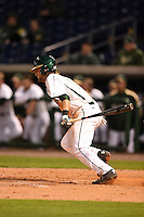 USF Bulls second baseman Nik Alfonso (8) at bat during a game against the Louisville Cardinals on February 14, 2015 at Bright House Field in Clearwater, Florida.  Louisville defeated USF 7-3.  (Mike Janes/Four Seam Images)