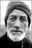 A refugee from Kosovo in Tirana.