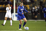 02 December 2011: Duke's Kelly Cobb. The Duke University Blue Devils defeated the Wake Forest University Demon Deacons 4-1 at KSU Soccer Stadium in Kennesaw, Georgia in an NCAA Division I Women's Soccer College Cup semifinal game.