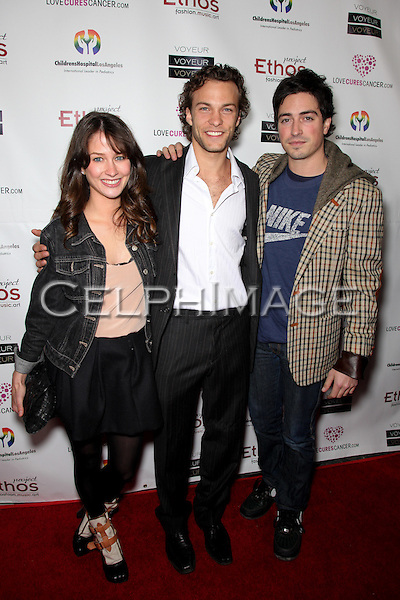MICHELLE MULITZ, KYLE SCHMID, BEN FELDMAN. Arrivals to Take a Chance On Love 2 Charity Benefit, presented by Love Cures Cancer at Voyeur nightclub, West Hollywood, CA, USA.February 10th, 2010.