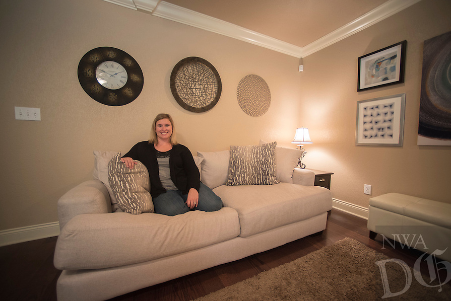NWA Democrat-Gazette/J.T. WAMPLER  Tara Dryer Tuesday Oct. 25, 2016 in the living room of her Bella Vista home.