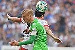 12.05.2018,  GER; 1.FBL Hamburger SV vs Borussia Moenchengladbach, im Bild Filip Kostic (Hamburg #17) versucht sich gegen Oscar Wendt (Gladbach #17) durchzusetzen Foto © nordphoto / Witke *** Local Caption ***