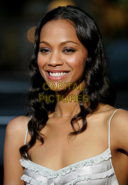 """ZOE SALDANA.Columbia Pictures' World Premiere of """"Guess Who"""" held at The Grauman's Chinese Theatre in Hollywood, California .March 13th, 2005.headshot portrait.www.capitalpictures.com.sales@capitalpictures.com.Supplied By Capital PIctures"""