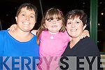 TRACK TIME: Noreen Ryan celebrating her birthday at the Kingdom Greyhound Stadium on Saturday l-r: Noreen Ryan, Eva Lynch and Mary Lynch..