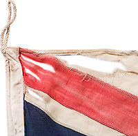 BNPS.co.uk (01202 558833)<br /> Pic: HermannHistorica/BNPS<br /> <br />  A Union Jack carried ashore on D-Day by one of the first men to set foot on the beaches has emerged for sale for £50,000.<br /> <br /> Royal Marine Sir Alan Dalton led a commando team that cleared the beaches and then guided 14,000 Canadian troops across Juno Beach on June 6, 1944.<br /> <br /> All the time he was shot at and shelled by the Germans he carried the tattered flag.
