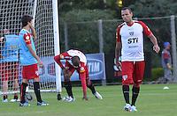SAO PAULO, 04 DE JUNHO DE 2013 - TREINO SAO PAULO - O jogador Kuis Fabiano durante treino do Sao Paulo, no CT da Barra Funda, na tarde desta terça fera, 04, região oeste da capital. (FOTO: ALEXANDRE MOREIRA / BRAZIL PHOTO PRESS)
