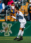 5 October 2019: University of Vermont Catamount Forward JoJo Moulton-Condiotti, a Freshman from Brooklyn, NY, in action against the University at Albany Great Danes on Virtue Field in Burlington, Vermont. The Catamounts fell to the visiting Danes 3-1 in America East, Division 1 play. Mandatory Credit: Ed Wolfstein Photo *** RAW (NEF) Image File Available ***