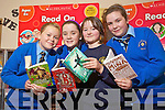 Pictured at the book fair at Presentation primary on Monday were AMy O'Mahony, Jade Smullen, Laura McGuire and Grace Costello.