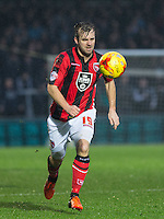 Laurence Wilson of Morecambe during the Sky Bet League 2 match between Wycombe Wanderers and Morecambe at Adams Park, High Wycombe, England on 2 January 2016. Photo by Andy Rowland / PRiME Media Images