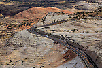 A curving road through The Grandstaitcase Escalante National Monument, Utah, USA