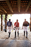 MEXICO, San Pancho, San Francisco, La Patrona Polo Club, players walking to the field for the afternoon match