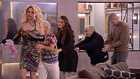 Jess Impiazzi, Shane Jenek aka Courtney Act,  Ann Widdecombe, Shane Lynch and Wayne Sleep.<br /> Celebrity Big Brother 2018 - Day 30<br /> *Editorial Use Only*<br /> CAP/KFS<br /> Image supplied by Capital Pictures