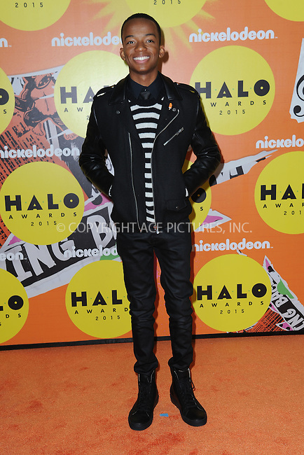 WWW.ACEPIXS.COM<br /> November 14, 2015 New York City<br /> <br /> Coy Stewart attending the 2015 Nickelodeon HALO Awards at Pier 36 on November 14, 2015 in New York City.<br /> <br /> Credit: Kristin Callahan/ACE<br /> Tel: (646) 769 0430<br /> e-mail: info@acepixs.com<br /> web: http://www.acepixs.com