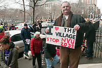 New York, NY -  11 February 2012  CAAN rally at Judson Memorial Church to stop NYU's 2031 plan expansion.