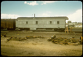 Side view operations car #17B 0292 possibly in Alamosa.<br /> D&amp;RGW  Alamosa  ?, CO