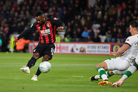 Jermain Defoe of AFC Bournemouth goes close with an early first half shot during AFC Bournemouth vs Norwich City, Caraboa Cup Football at the Vitality Stadium on 30th October 2018