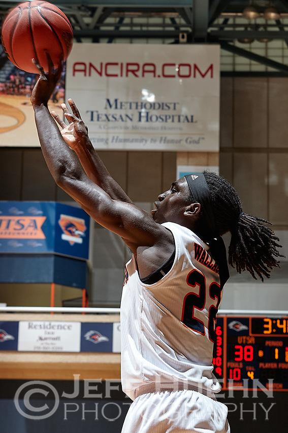 SAN ANTONIO, TX - NOVEMBER 12, 2017: The University of Texas at San Antonio Roadrunners defeat the East Central University Tigers 92-59 at the UTSA Convocation Center. (Photo by Jeff Huehn)