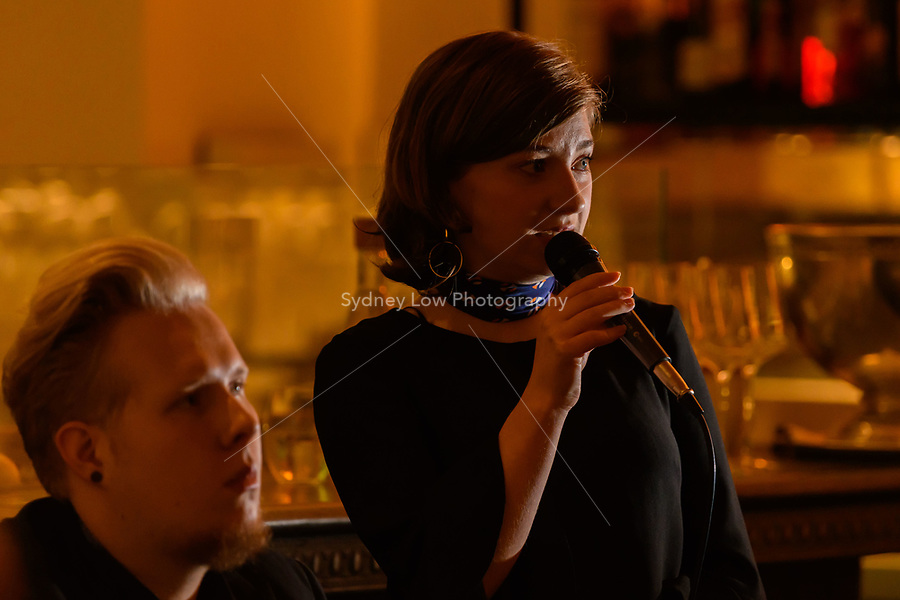 Melbourne, 4 June 2018 - Harriet Allcroft and Angus Gray playing at the Monday Jazz night at Philippe Restaurant, Melbourne. Photo Sydney Low