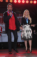 02 December 2017 - Las Vegas, NV - Wayne Newton, Holly Madison. 2017 Las Vegas Great Santa Run Kickoff with Grand Marshals Wayne Newton and Holly Madison at The Fremont Street Experience. Photo Credit: MJT/AdMedia