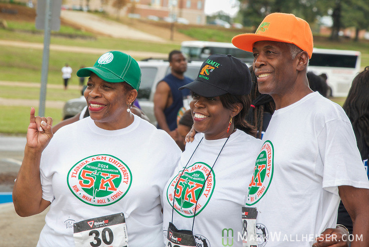 FAMU's 11th president Dr. Elmira Mangum poses for photos prior to the FAMU 2014 Presidential Inauguration 5K Run, Walk, Roll & Stroll from Bragg Stadium to Cascades Park in Tallahassee, FL September 28, 2014.  The Presidential 5K was to celebrate FAMU's 11th president Dr. Elmira Mangum.