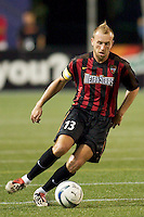 Clint Mathis of the MetroStars. The NY/NJ MetroStars defeated the national team of China 2-1 in a friendly on 9/09/03 at Giant's Stadium, NJ..