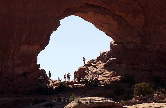 north window. Arches National Park. 07/09/2003<br />
