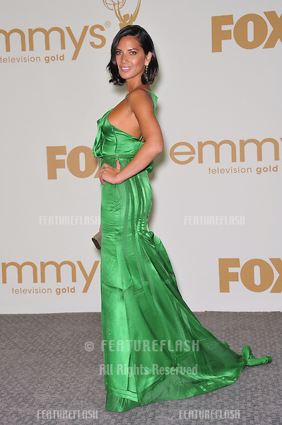 Olivia Munn in the press room at the 2011 Primetime Emmy Awards at the Nokia Theatre L.A. Live in downtown Los Angeles..September 18, 2011  Los Angeles, CA.Picture: Paul Smith / Featureflash