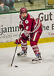 15 November 2015: University of Massachusetts Minuteman Forward Dominic Trento, a Sophomore from Brockport, NY, in action against the University of Vermont Catamounts at Gutterson Fieldhouse in Burlington, Vermont. The Minutemen rallied from a three goal deficit to tie the game 3-3 in their Hockey East matchup. Mandatory Credit: Ed Wolfstein Photo *** RAW (NEF) Image File Available ***