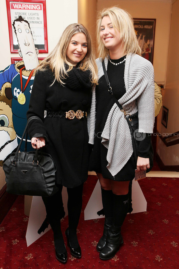 NO FFE. 19/10/2010. Ross O'Carroll Kelly play Between Foxrock and A Hard Place. Emma Brindley and Sophie Gleeson are pictured at the Olympia Theatre for the opening night of the new Ross O'Carroll Kelly new play Between Foxrock and A Hard Place. Picture James Horan/Collins