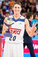 Real Madrid's player Jaycee Carroll win the 3 shot contest of Supercopa of Liga Endesa Madrid. September 24, Spain. 2016. (ALTERPHOTOS/BorjaB.Hojas) NORTEPHOTO.COM