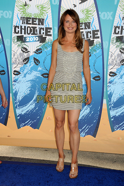 MARY LYNN RAJSKUB.Teen Choice Awards 2010 - Arrivals held at Universal Studios Gibson Amphitheatre, Universal City, California, USA.August 8th, 2010.full length dress grey gray.CAP/ADM/BP.©Byron Purvis/AdMedia/Capital Pictures.