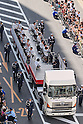 Japanese medalists ride through Ginza and Nihonbashi on open top buses in a special Olympic and Paralympic Parade on OCTOBER 7, 2016, in Tokyo, Japan. (Photo by AFLO)