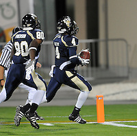 22 November 2008:  FIU wide receiver T.Y. Hilton (4) breaks away for a touchdown in the ULM 31-27 victory over FIU at FIU Stadium in Miami, Florida.