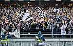 Solna 2014-03-16 Bandy SM-final herrar Sandvikens AIK - V&auml;ster&aring;s SK :  <br /> Sandvikens supportrar &auml;r glada efter matchen<br /> (Foto: Kenta J&ouml;nsson) Nyckelord:  SM SM-final final herr herrar VSK V&auml;ster&aring;s SAIK Sandviken  jubel gl&auml;dje lycka glad happy supporter fans publik supporters