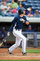West Michigan Whitecaps first baseman Will Kengor (34) at bat during a game against the Cedar Rapids Kernels on June 7, 2015 at Fifth Third Ballpark in Comstock Park, Michigan.  West Michigan defeated Cedar Rapids 6-2.  (Mike Janes/Four Seam Images)