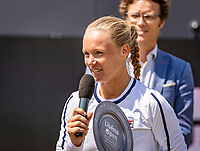 Rosmalen, Netherlands, 16 June, 2019, Tennis, Libema Open, Kiki Bertens (NED) adresses the crowd<br /> Photo: Henk Koster/tennisimages.com
