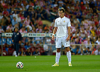 MADRID - ESPAÑA - 22-08-2014: Garet Bale, jugador de Real Madrid durante partido de vuelta de la Super Copa de España, Atletico de Madrid  y Real Madrid, en el estadio Vicente Calderon de la ciudad de Madrid, España. / Garet Bale,  player of Real Madrid during a match for the second leg, between Atletico de Madrid  y Real Madrid of the Super Copa de España in the Vicente Calderon stadium in Madrid, Spain  Photo: Asnerp / Patricio Realpe / VizzorImage.