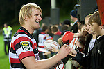 Steelers Captain Jamie Chipman signs auotgraphs for fans after the game. ITM Cup rugby game between Counties Manukau and Manawatu played at Bayer Growers Stadium on Saturday August 21st 2010..Counties Manukau won 35 - 14 after leading 14 - 7 at halftime.