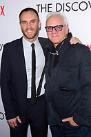 LOS ANGELES, CA - MARCH 29: Charlie McDowell, Malcolm McDowell at the Netflix special film screening of The Discovery  at The Vista Theater in Los Angeles, California on March 29, 2017. Credit: David Edwards/MediaPunch
