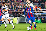 VfL Borussia Monchengladbach's Andreas Christensen, Tobias Strobl, FC Barcelona's Leo Messi  during Champions League match between Futbol Club Barcelona and VfL Borussia Mönchengladbach  at Camp Nou Stadium in Barcelona , Spain. December 06, 2016. (ALTERPHOTOS/Rodrigo Jimenez)
