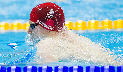 01 AUG 2012 - LONDON, GBR - Joe Roebuck (GBR) of Great Britain races during his men's 200m Individual Medley heat during the morning session of the London 2012 Olympic Games Swimming at the Aquatic Centre in the Olympic Park, in Stratford, London, Great Britain (PHOTO (C) 2012 NIGEL FARROW)