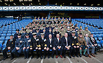 Rangers manager Ally McCoist with Chairman David Somers and CEO Graham Wallace with members of the armed services at Ibrox