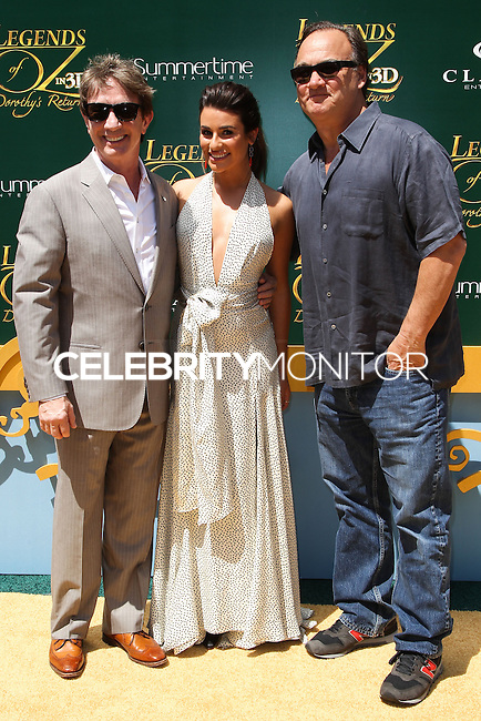 "WESTWOOD, LOS ANGELES, CA, USA - MAY 03: Martin Short, Lea Michele, Jim Belushi at the Los Angeles Premiere Of ""Legends Of Oz: Dorthy's Return"" held at the Regency Village Theatre on May 3, 2014 in Westwood, Los Angeles, California, United States. (Photo by Celebrity Monitor)"
