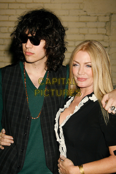 NICK SIMMONS & SHANNON TWEED.US Weekly Presents Us' Hot Hollywood 2007 held at Sugar,  Hollywood, California, USA..April 26th, 2007.half length black waistcoat suit jacket son mother family sunglasses shades .CAP/ADM/RE.©Russ Elliot/AdMedia/Capital Pictures