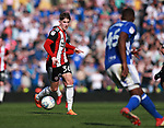 David Brooks of Sheffield Utd in action during the championship match at St Andrews Stadium, Birmingham. Picture date 21st April 2018. Picture credit should read: Simon Bellis/Sportimage